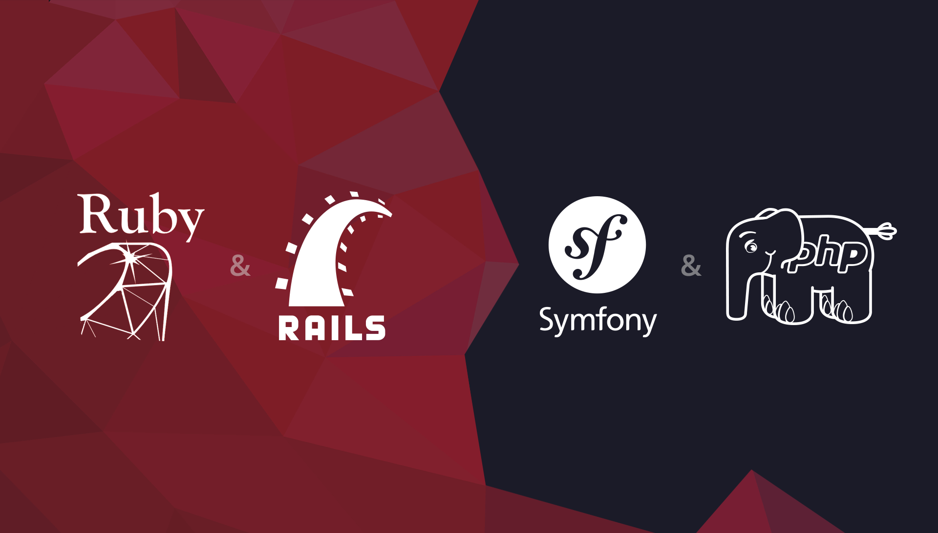 Where Do Ruby /Ruby on Rails 4 and PHP /Symfony 2 Come From?