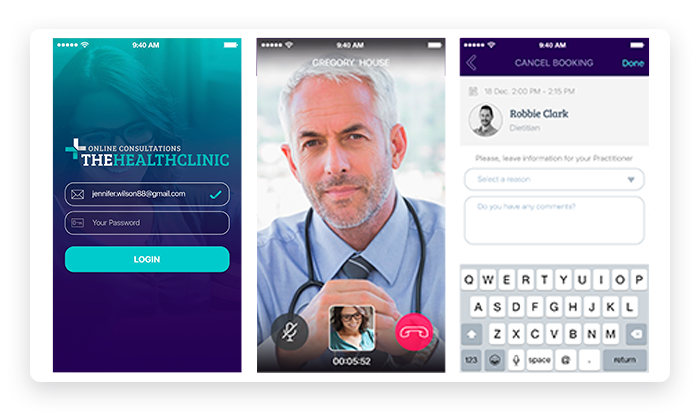 TheHealthClinic Mobile Screenshots