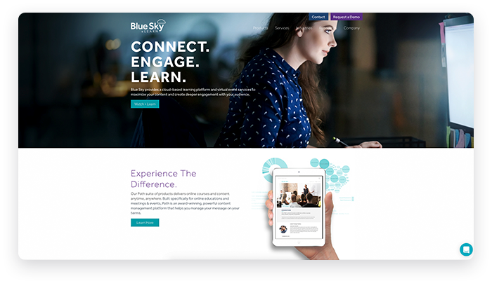 BlueSky Website Screenshots