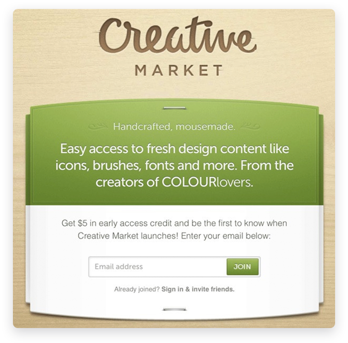 Creative Market Offering