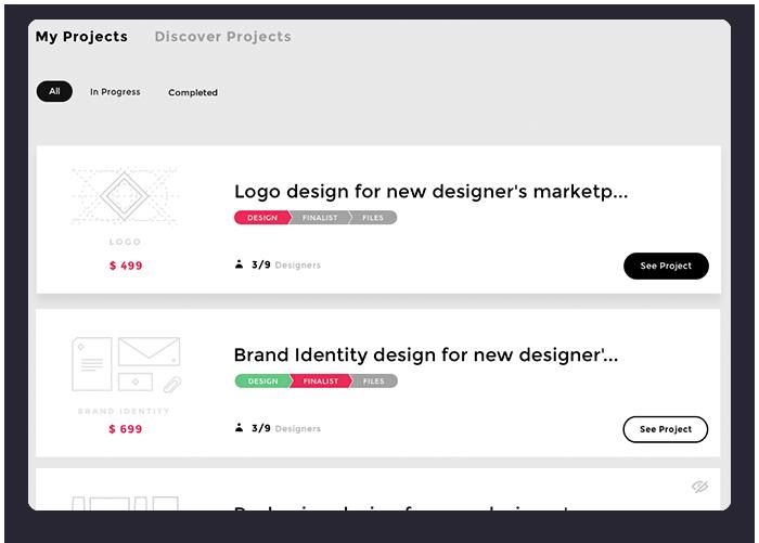 Contest Statuses on DesignBro