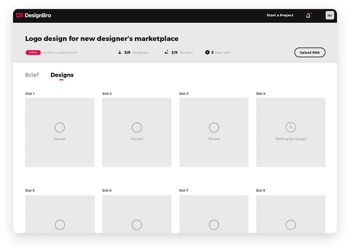 DesignBro User Interface