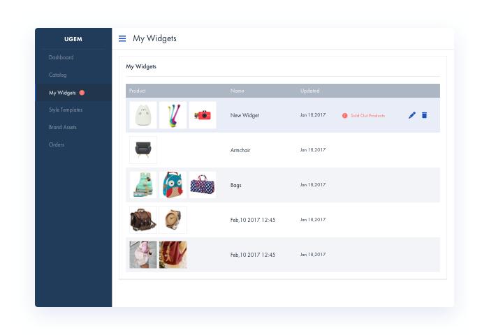 Multi Channel Selling Platform Widgets title=