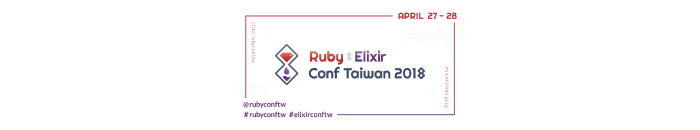 The Logo of Ruby X Elixir Conf Taiwan 2018