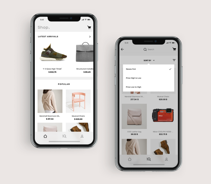ShopApp product collections