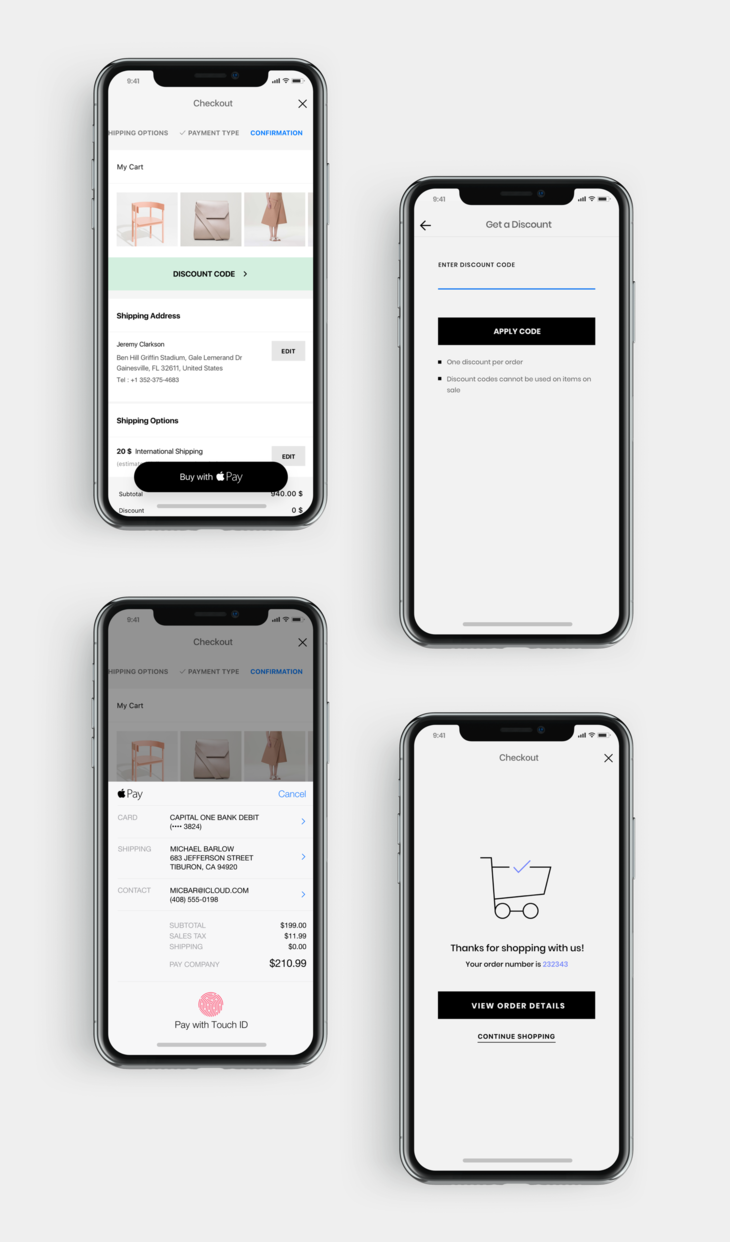 ShopApp shopping cart management