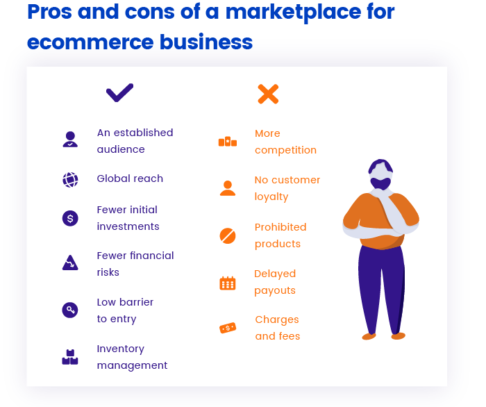Advantages and disadvantages of a marketplace for ecommerce business