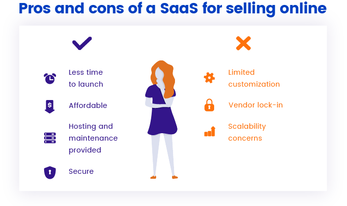 Advantages and disadvantages of using SaaS for your online store