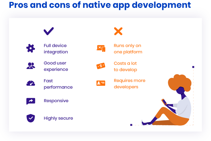 Pros and cons of native app development