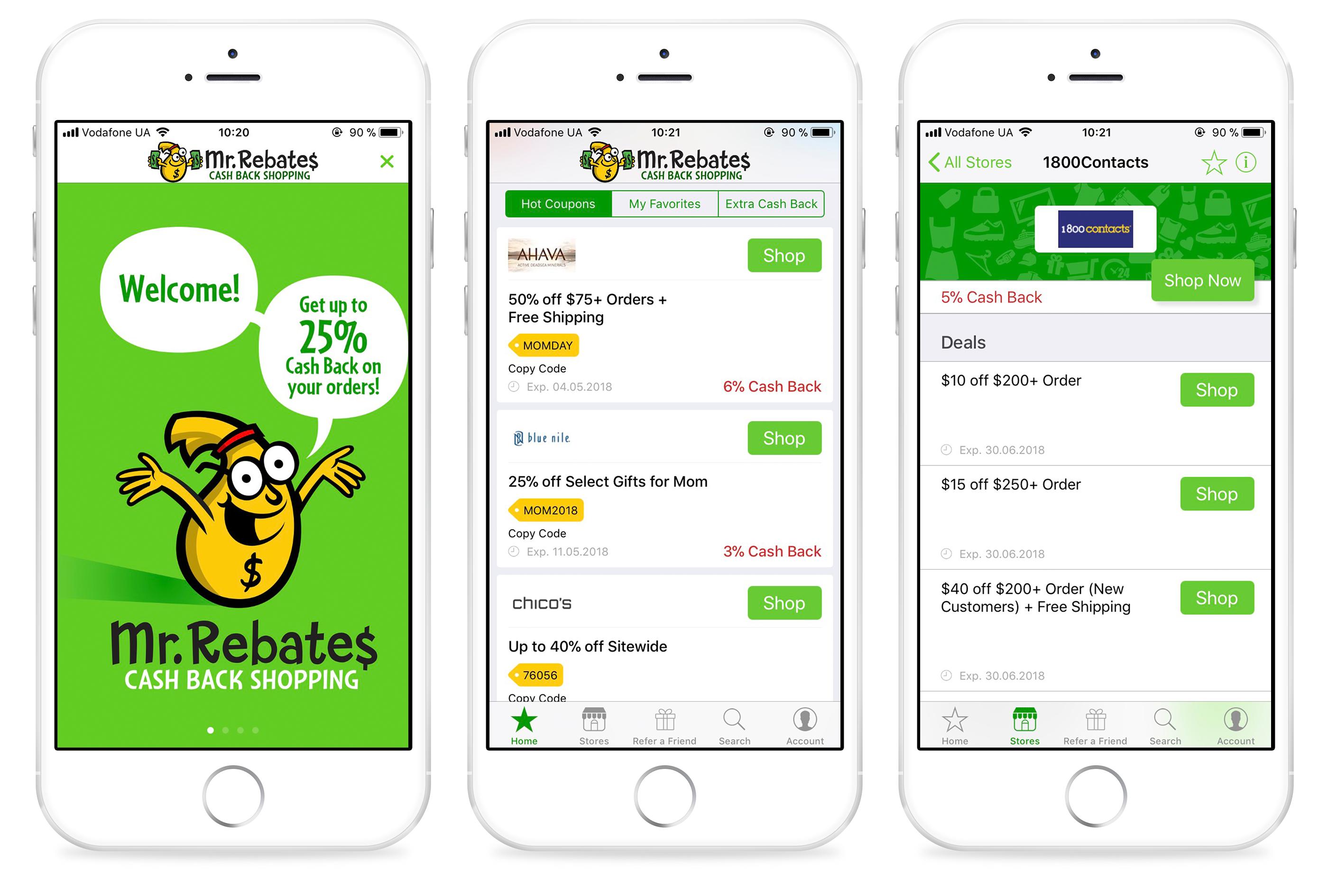 Grocery rebate app