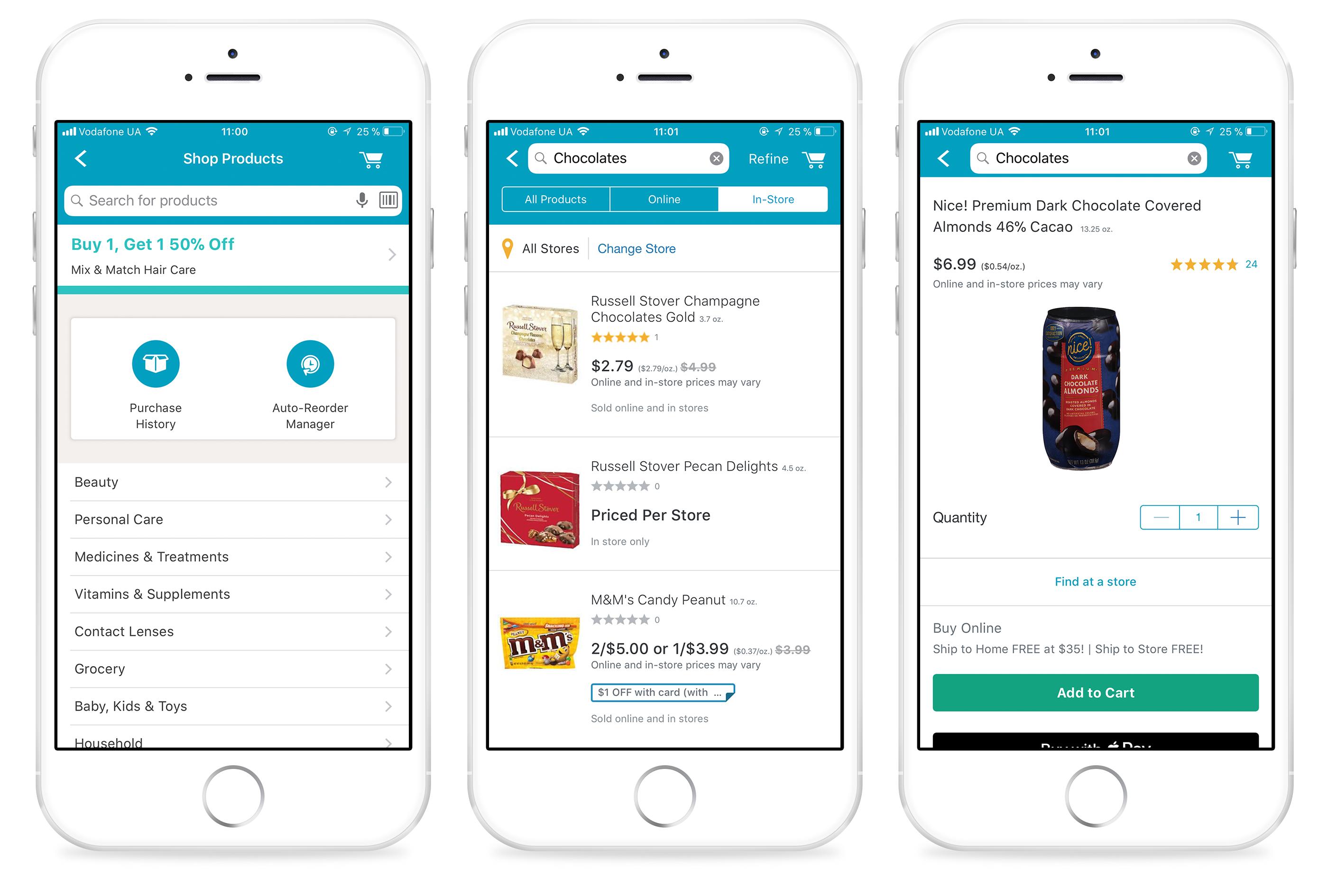 Supermarket-specific app