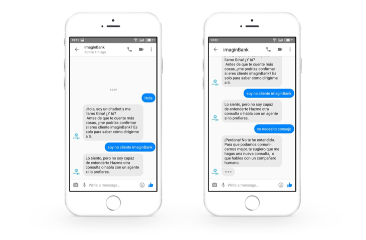 AI banking chatbot in Messenger