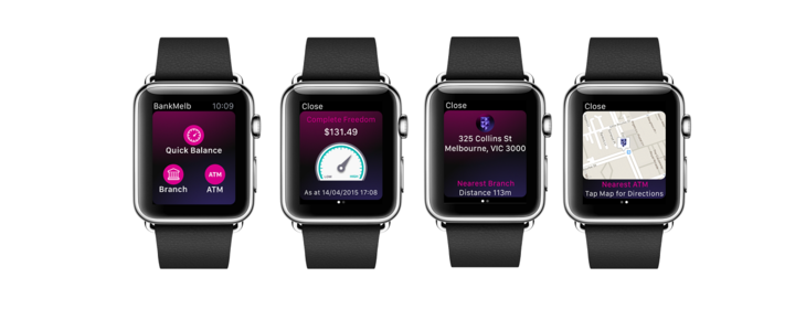 Australian Bank of Melbourne app for smartwatches