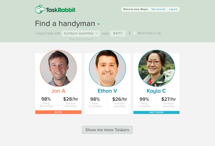 TaskRabbit Elite Taskers