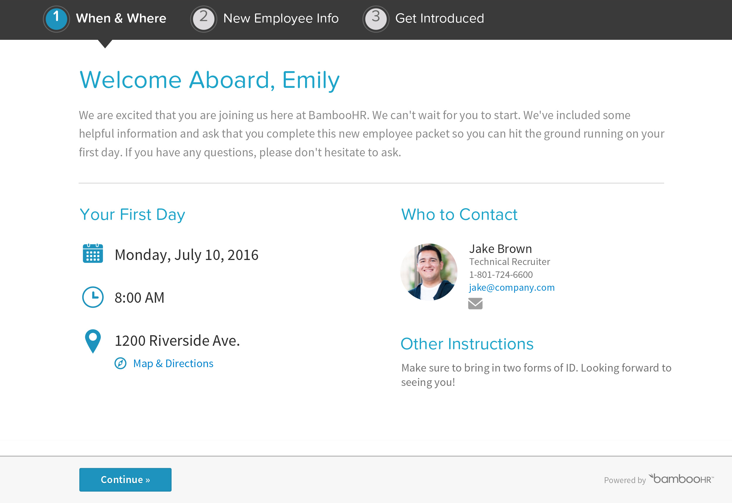 BambooHR helps automate onboarding