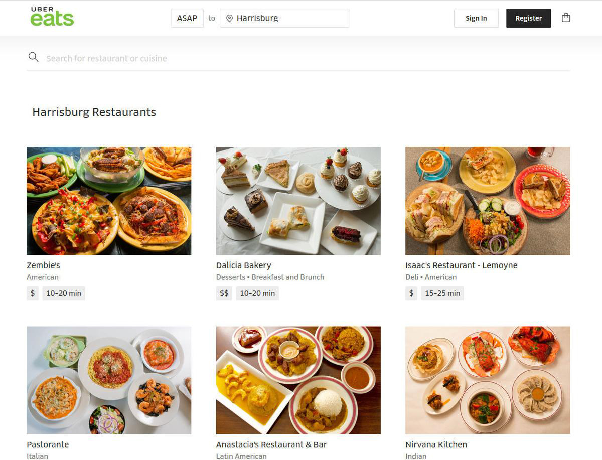 cuisine search feature