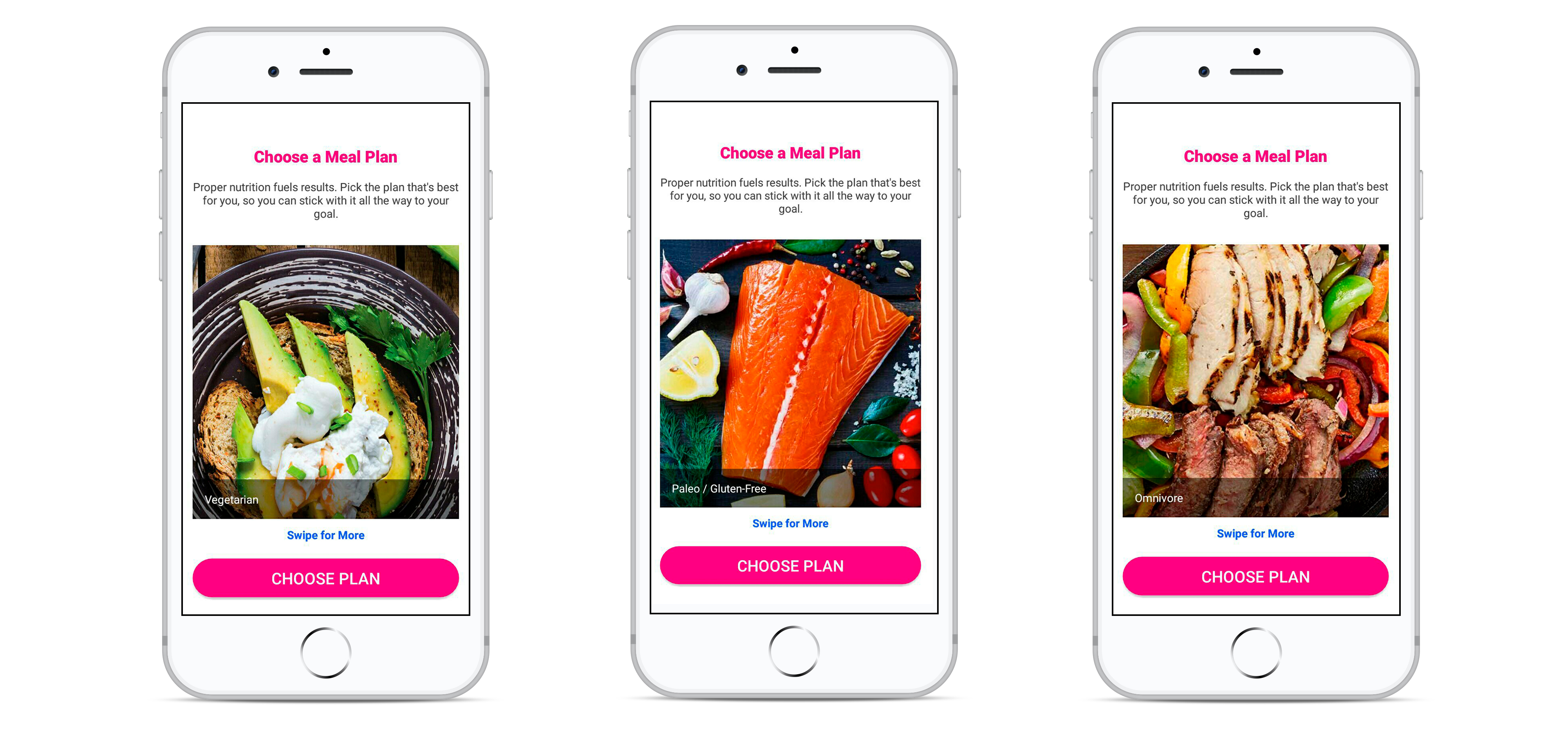 how to create a fitness app for different diets