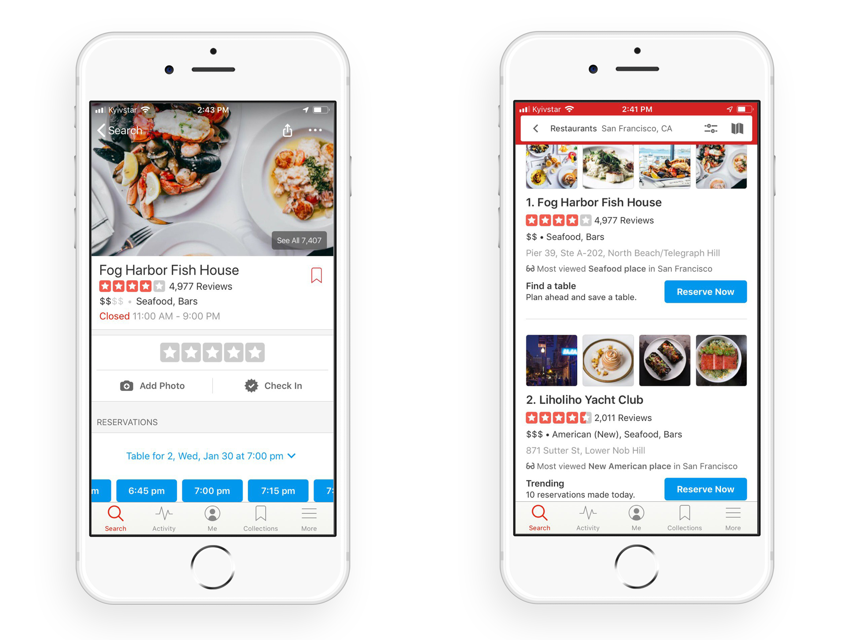 create an app like Yelp