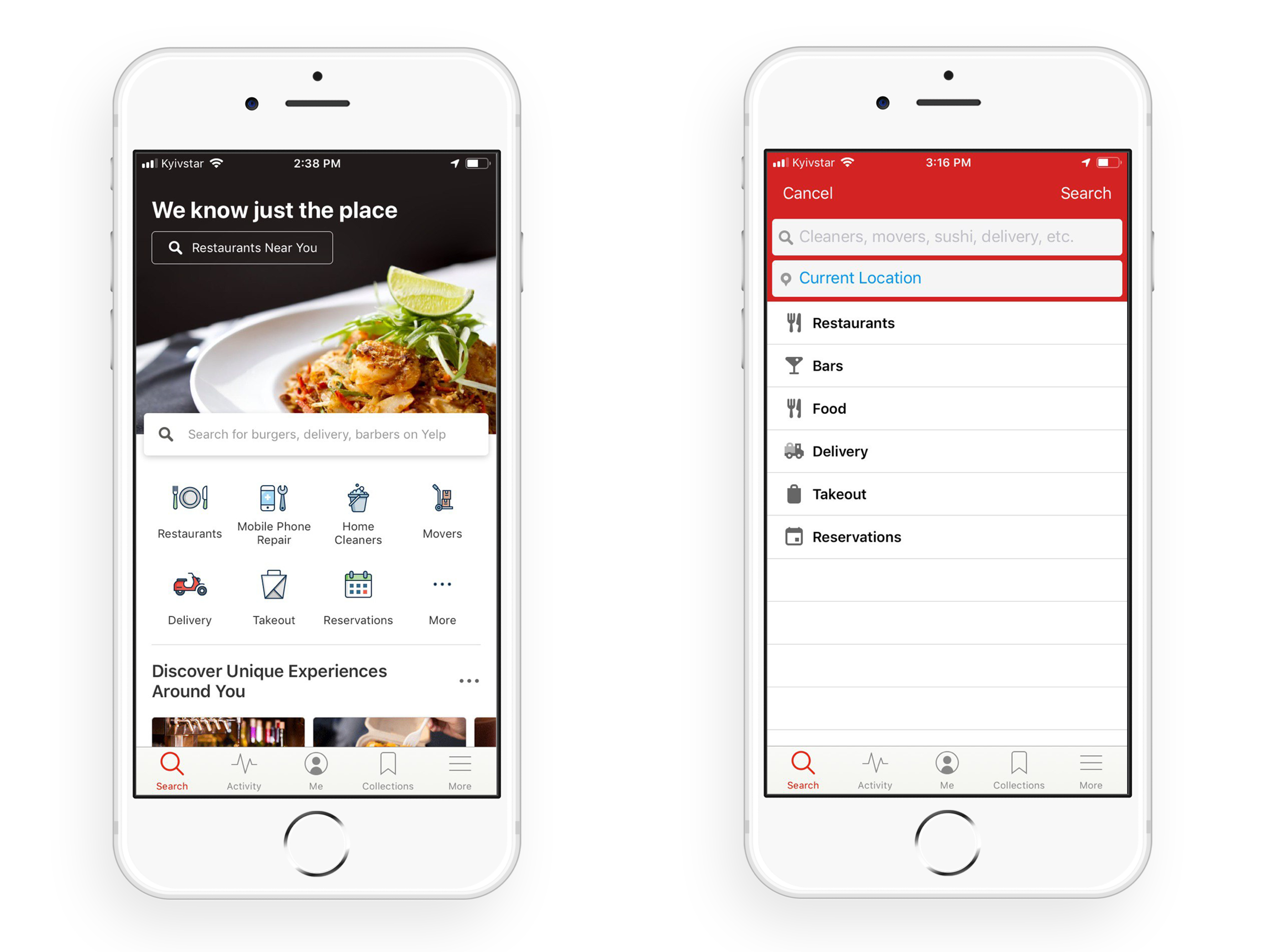 how to create an app like Yelp