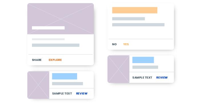 Card-based web design