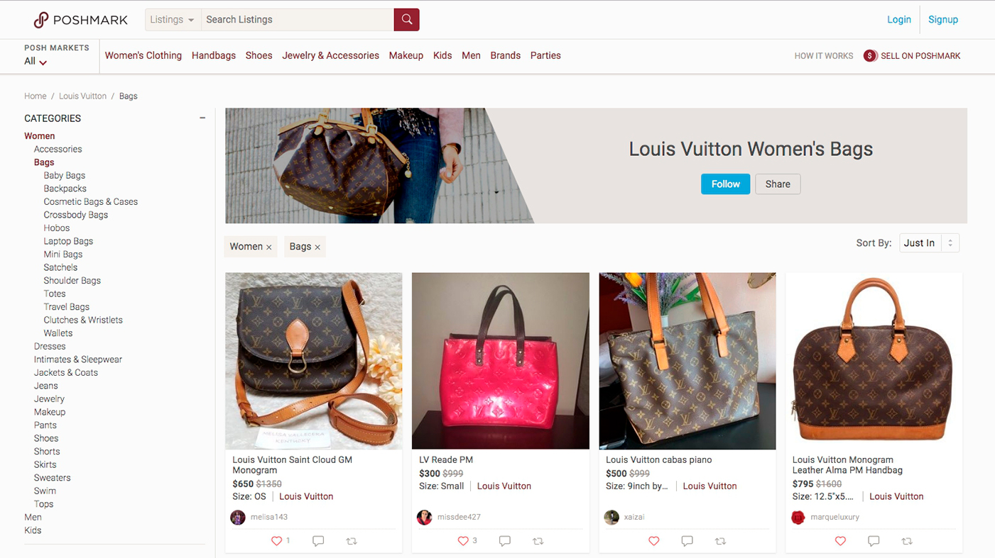 how to build a website like Poshmark