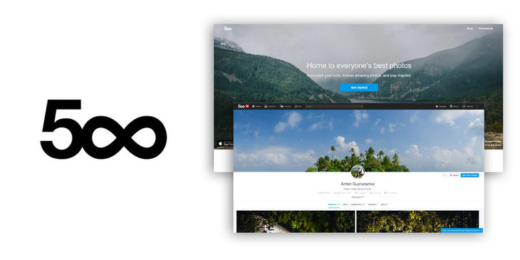 website built with ruby on rails - 500px