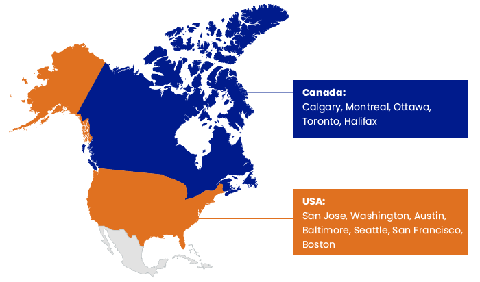 US & Canada as destinations for outsourcing