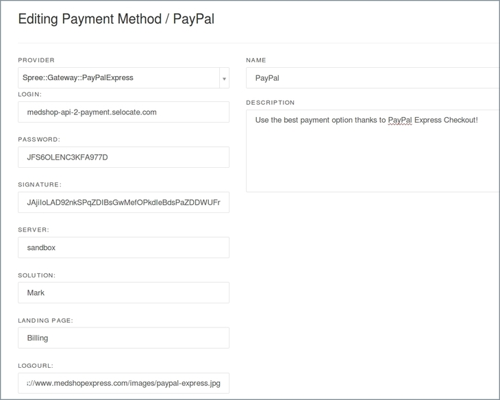 Edit PayPal Express  in Spree