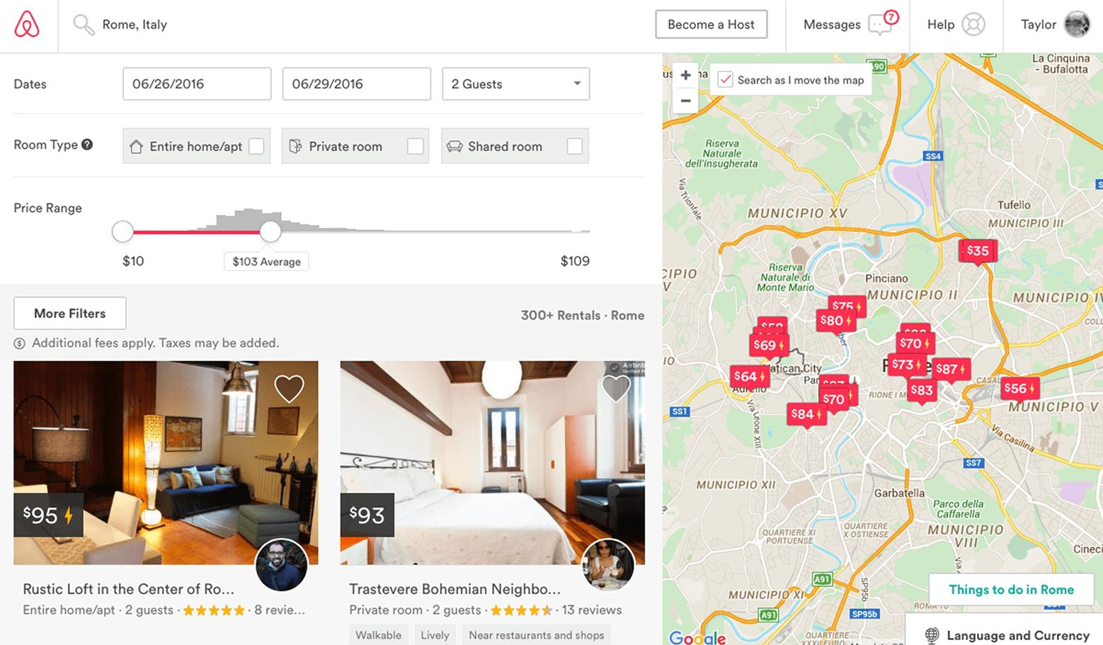 how to build a website like Airbnb
