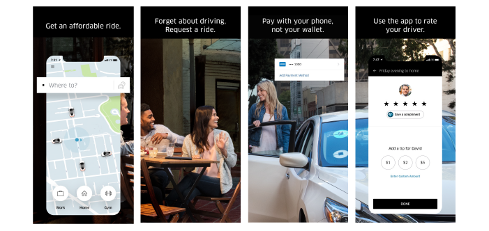 Uber iOS App Screenshots