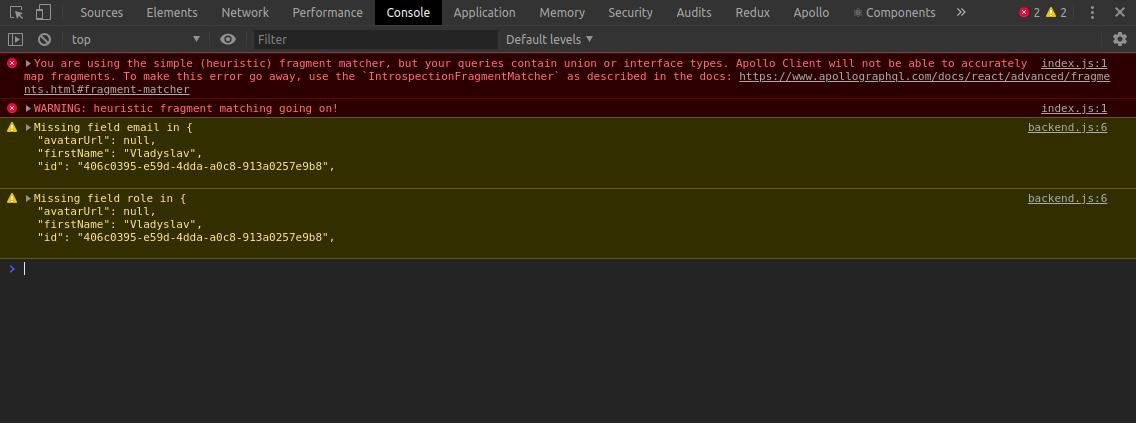 Common mistakes when working with Apollo GraphQl