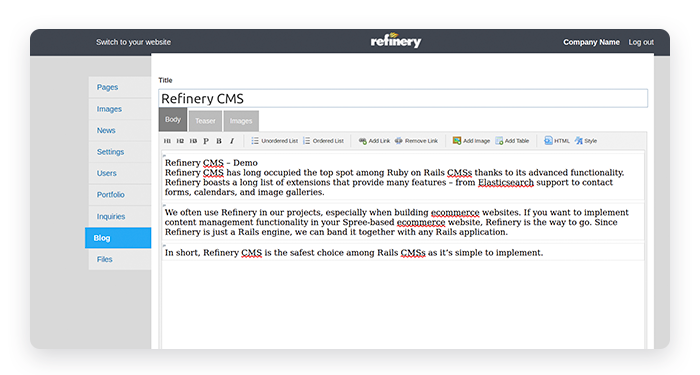 7 best ruby on rails content management systems refinery cms admin panel maxwellsz