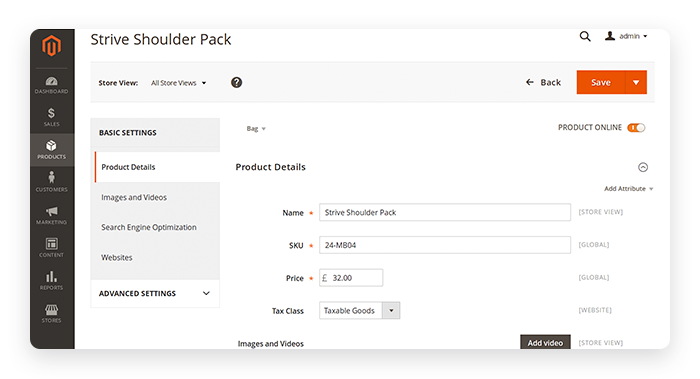Magento Community Edition - Product Page