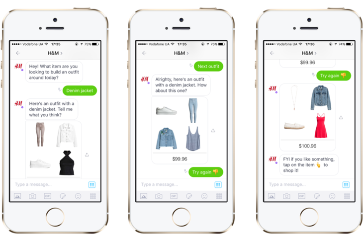A chatbot by H&M on Kik
