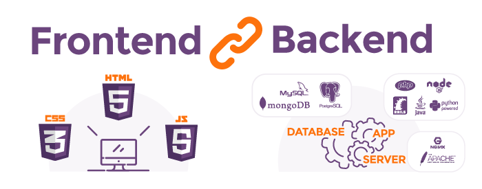 Frontend and backend diagram