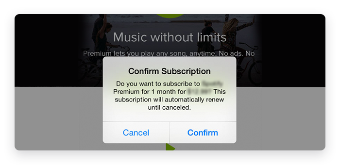 Subscription in App Example