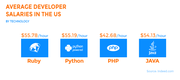 Average Developer Salary USA