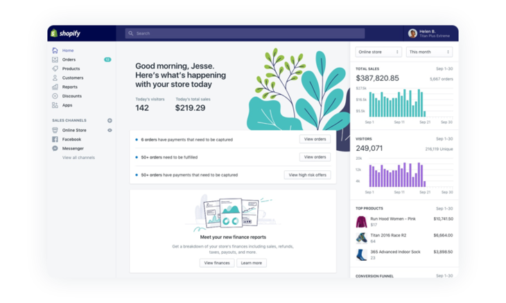 Shopify-dashboard