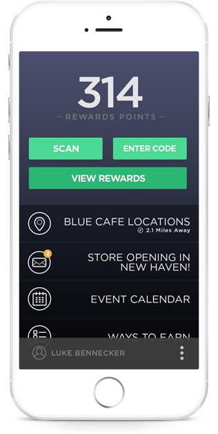 Ecommerce rewards system on mobile app