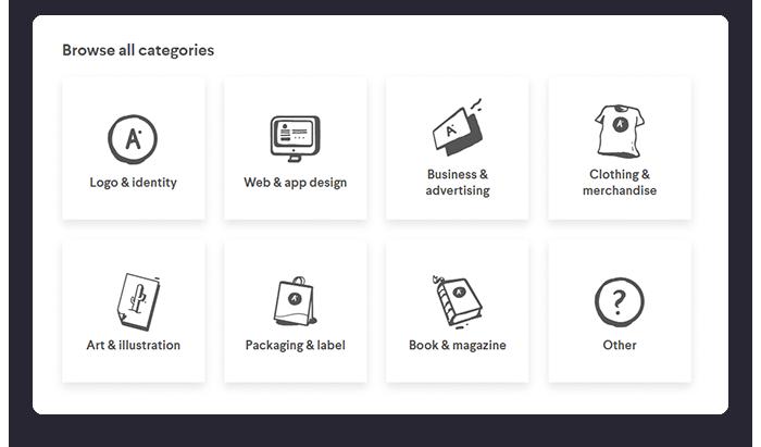 Design Categories at 99designs