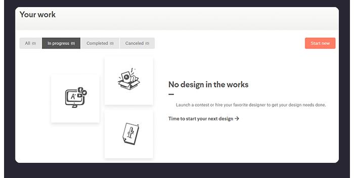 Customer Dashboard 99designs