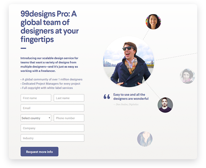 Pro Services at 99designs