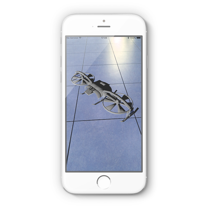 Quadcopter Position in AR app