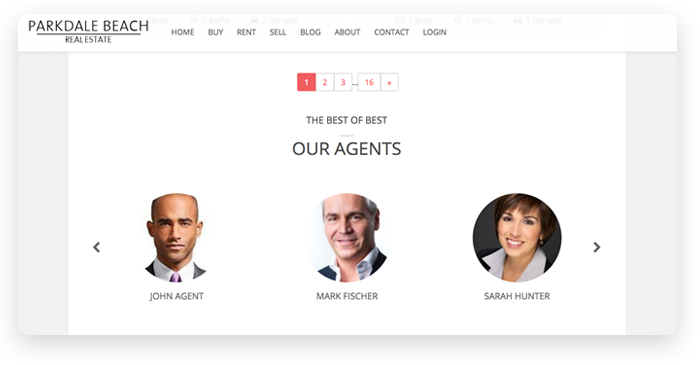 Section with Agents Details